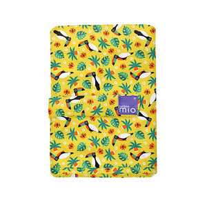 The Cloth Nappy Company Malta Bambino Mio reusable change mat tropical toucan