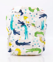 Load image into Gallery viewer, Bambooty One Size All in Two Cranky Crocs print The Cloth Nappy Company Malta