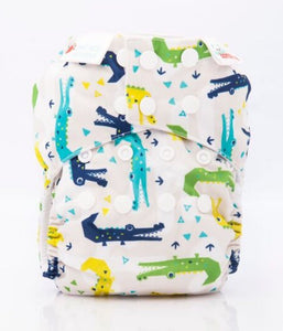 Bambooty One Size All in Two Cranky Crocs print The Cloth Nappy Company Malta