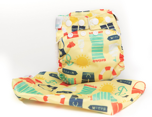 The Cloth Nappy Company Malta Bambooty newborn nappy by the sea