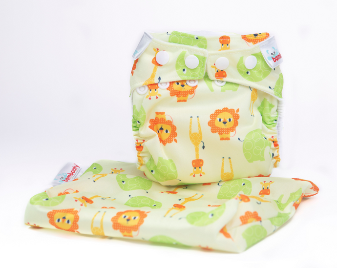 The Cloth Nappy Company Malta Bambooty newborn nappy safari