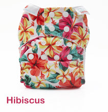 Load image into Gallery viewer, Bambooty One Size Nappy Cover Hibiscus print The Cloth Nappy Company Malta