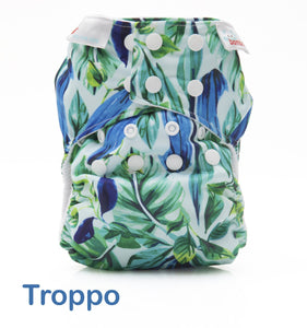 Bambooty One Size All in Two Troppo print The Cloth Nappy Company Malta