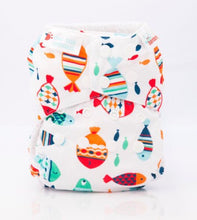 Load image into Gallery viewer, Bambooty One Size All in Two Fishies print The Cloth Nappy Company Malta