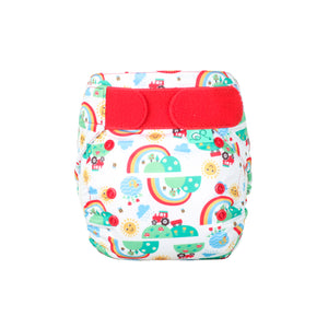 Tots Bots EasyFit - All in One Happy Days print The Cloth Nappy Company