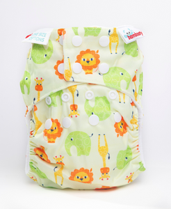 Bambooty One Size All in Two Safari print The Cloth Nappy Company Malta