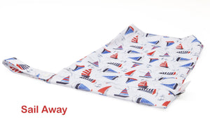 Bambooty Large Wet Bag Sail Away print - The Cloth Nappy Company Malta