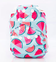 Load image into Gallery viewer, Bambooty One Size All in Two Melon Madness print The Cloth Nappy Company Malta