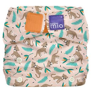 Bambino Mio Miosolo All in One Wild Cat print The Cloth Nappy Company Malta