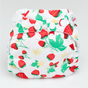 The Cloth Nappy Company Malta Bambooty newborn nappy strawberries
