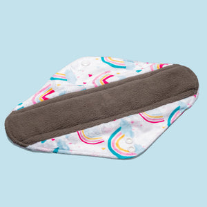 The Cloth Nappy Company Malta Cheeky Wipes reusable sanitary period pads night maternity pads over the rainbow charcoal