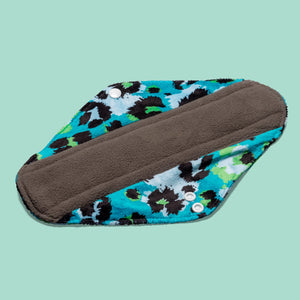 The Cloth Nappy Company Malta Cheeky Wipes reusable sanitary period pads night maternity pads walk on the wild side charcoal