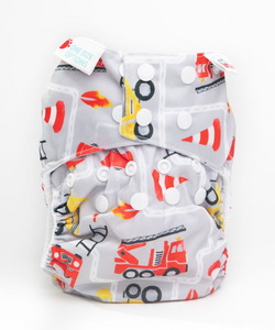 Bambooty One Size All in Two Nee Naw print The Cloth Nappy Company Malta