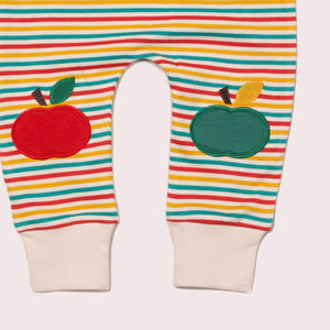 The Cloth Nappy Company Malta Little Green Radicals Trousers Joggers Rainbow Apple 2