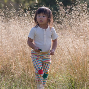 The Cloth Nappy Company Malta Little Green Radicals Trousers Joggers Rainbow Apple Lifestyle