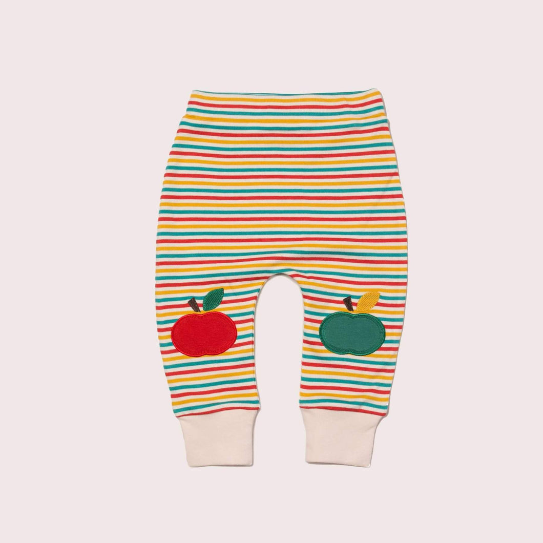 The Cloth Nappy Company Malta Little Green Radicals Trousers Joggers Rainbow Apple