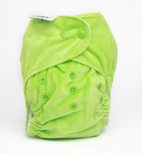 Load image into Gallery viewer, The Cloth Nappy Company Bambooty Basics AI2 reusable nappies apple green