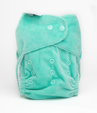 Load image into Gallery viewer, The Cloth Nappy Company Bambooty Basics AI2 reusable nappies peppermint