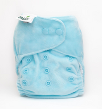 Load image into Gallery viewer, The Cloth Nappy Company Bambooty Basics AI2 reusable nappies new blue