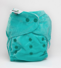 Load image into Gallery viewer, The Cloth Nappy Company Bambooty Basics AI2 reusable nappies turquoise