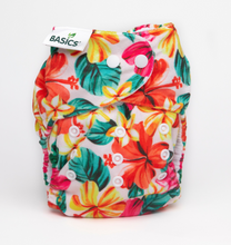 Load image into Gallery viewer, The Cloth Nappy Company Bambooty Basics AI2 reusable nappies hibiscus