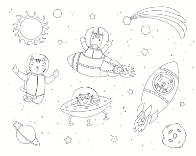 Kats In Space Coloring Book