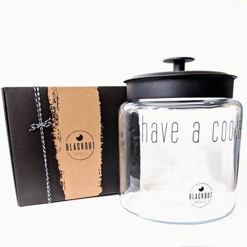 Blackout Baking Co. Cookie Jar and Large Cookie Box
