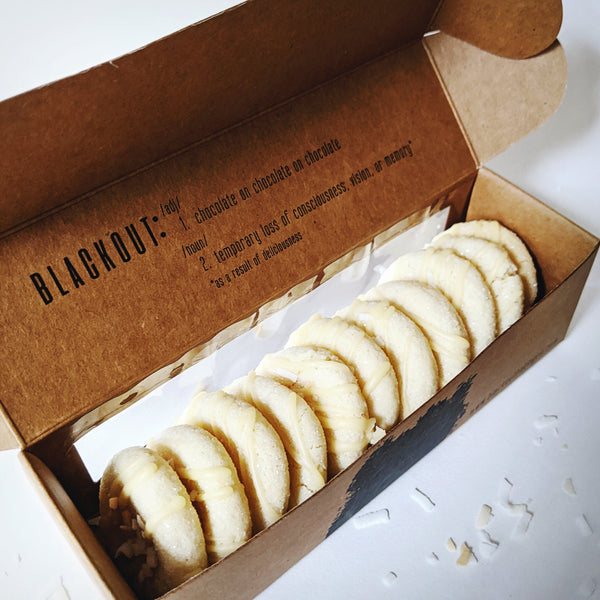 Blackout Baking Co Coconut Passionfruit Cookie - Small box