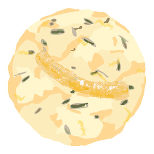 Lemon Rosemary Elderflower Cookie