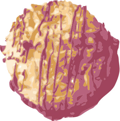 Blackout Baking Co Ruby Chocolate Coconut Macaroon Illustration