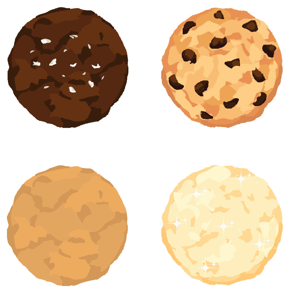 Blackout Baking Co. Signature Cookie Mix Box Illustration