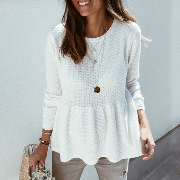 Casual Loose Solid Color Sweater