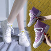 Rainbow color changing canvas casual shoes - shinyshinyday
