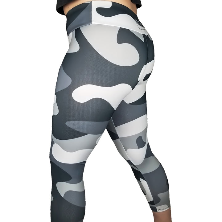 Grey Camo Crops - One Last Round Apparel