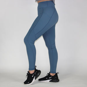 Genesis Leggings - Slate Blue - - One Last Round Apparel