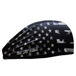 Blackout American Flag Headband - One Last Round