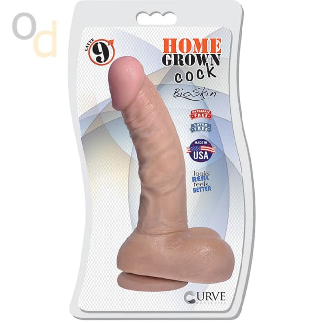 9 Home Grown Cock - Latte - Dildo