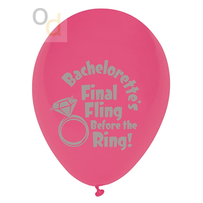 Bachelorettes Last Night Out! - Final Fling Before the Ring Balloons - 6 Pack - Novelties