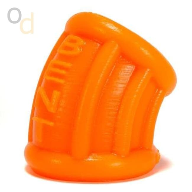 Bent 1 Ball Stretcher Curved Silicone - Small - Orange - Cock Rings