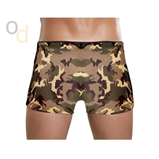 Camo Panel Short - Small - Camo - Lingerie