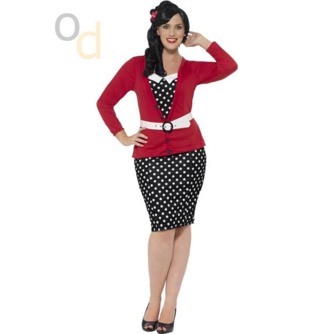 Curves 50s Pin Up Costume - Costumes