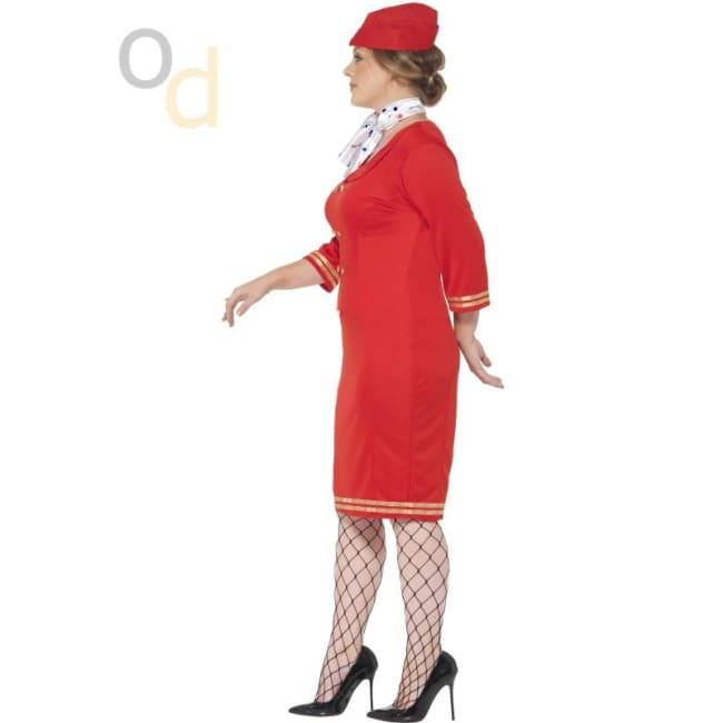 Curves Air Hostess Costume - Costumes