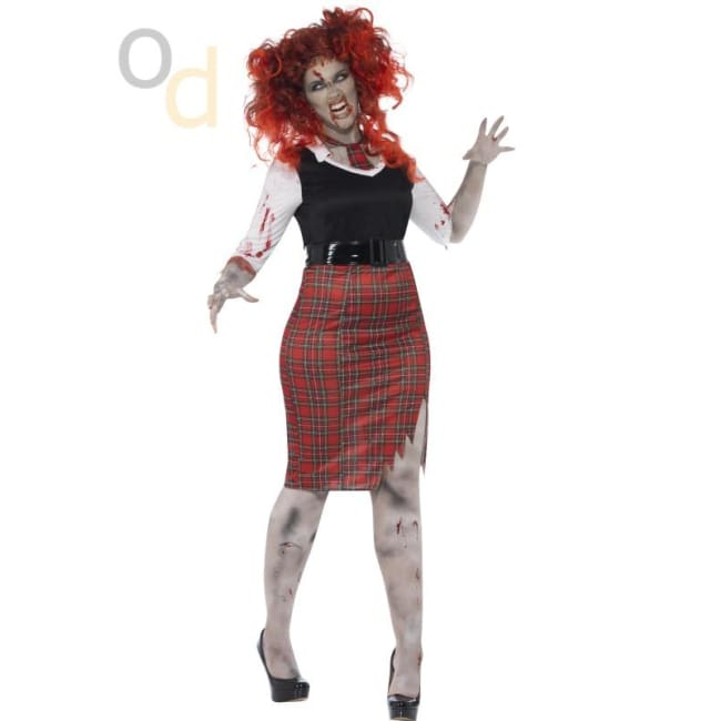 Curves Zombie School Girl Costume - Costumes
