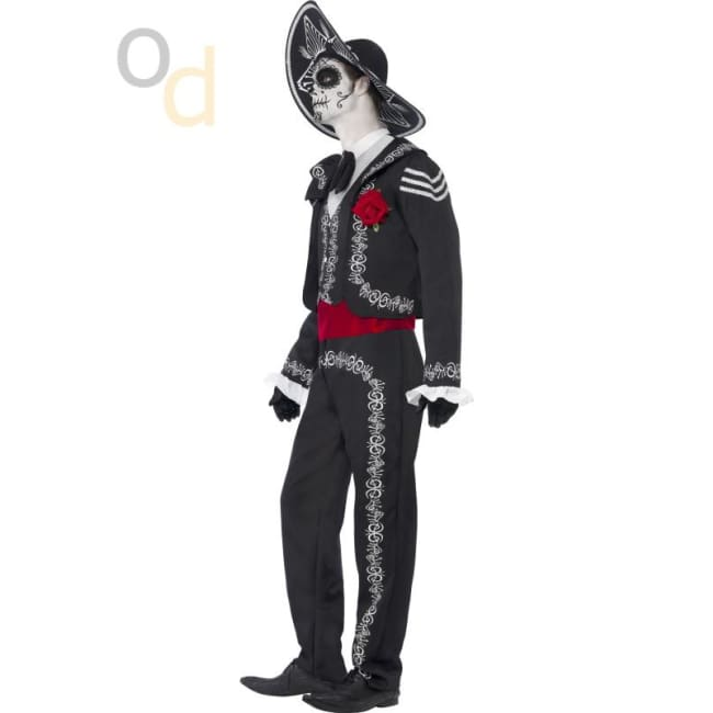 Day of the Dead Se-¦or Bones Costume - Costumes