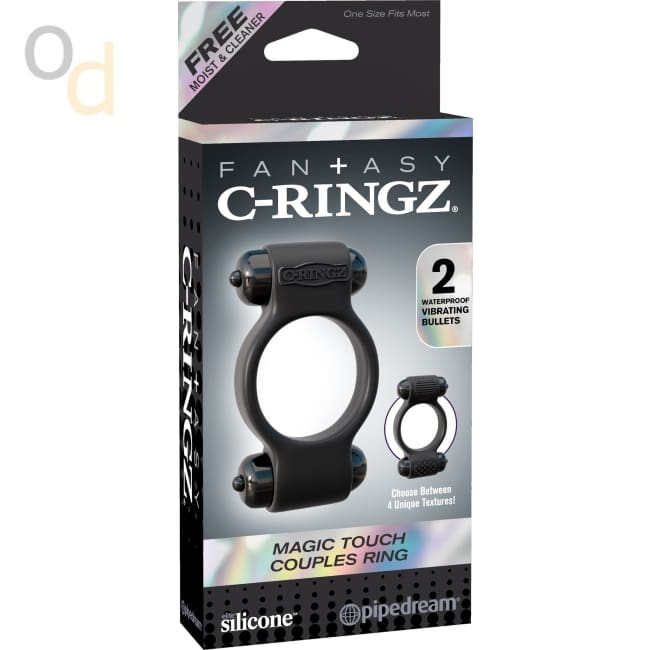 Fantasy C-Ringz Magic Touch Couples Ring - Black - Cock Rings