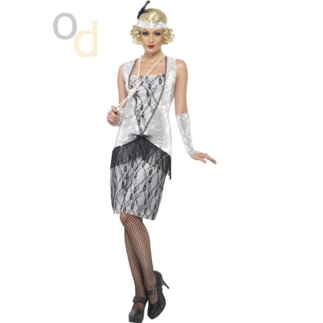 Flapper Costume with Long Dress - Costumes