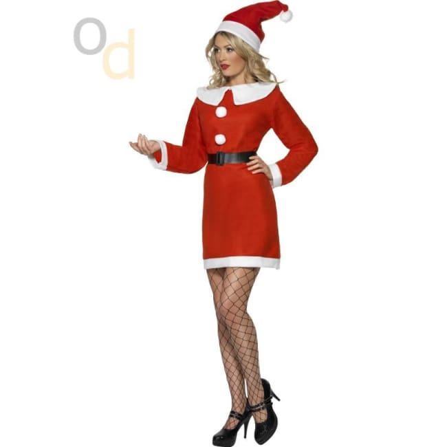 Miss Santa Costume with Dress Belt and Hat - Costumes
