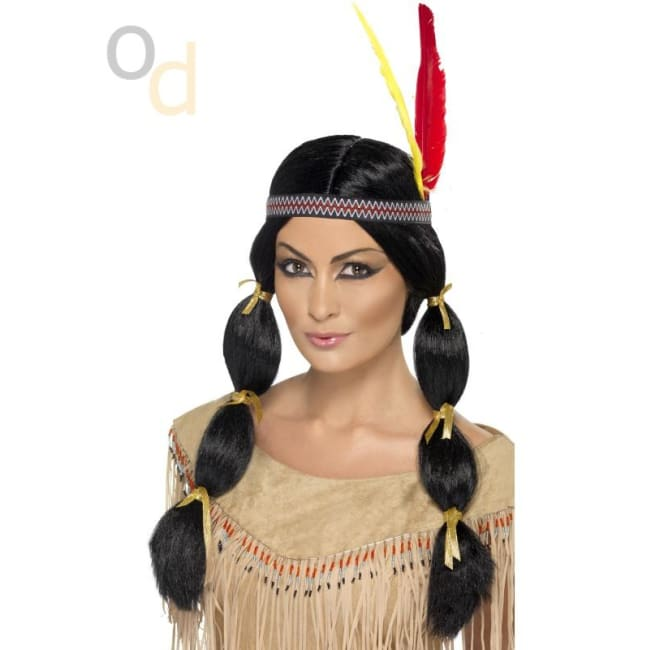 Native American Inspired Black Wig - Wig