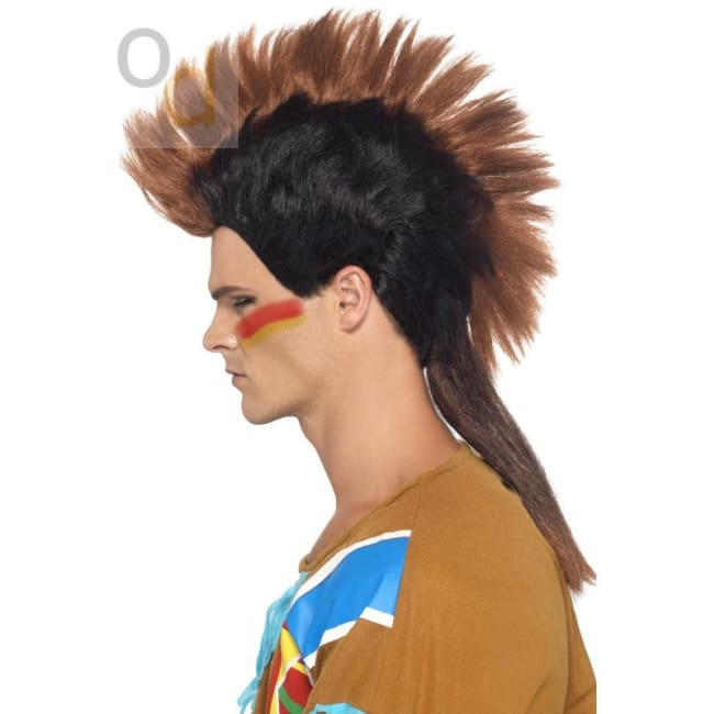 Native American Inspired Male Mohican Wig - Wig