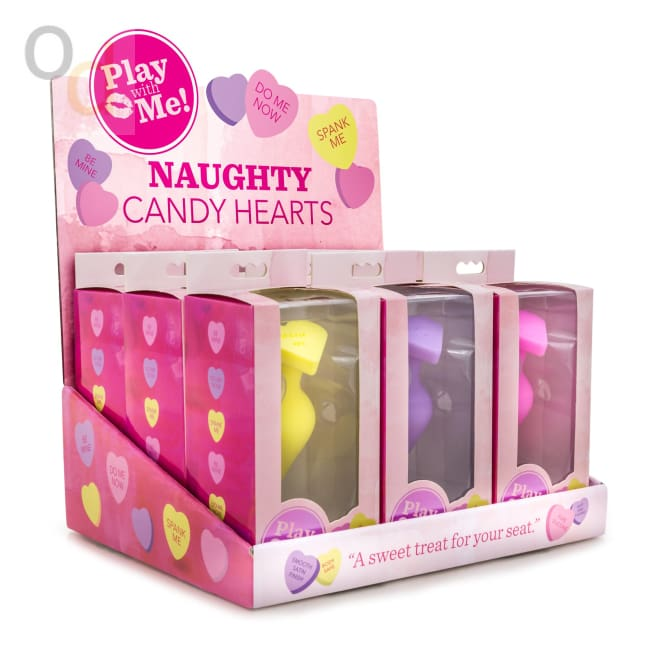 Naughty Candy Hearts Display - 9 Pieces - Assorted Colors